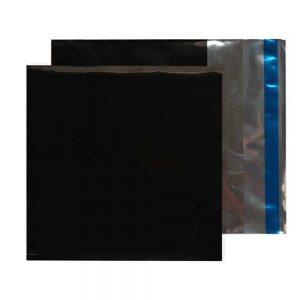 Metallic Black 70 micron 165mm x 165mm Foil Envelopes (Box Of 250)