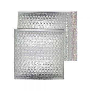 Brushed Chrome Matt 165mm x 165mm Bubble Envelopes (Box Of 100)