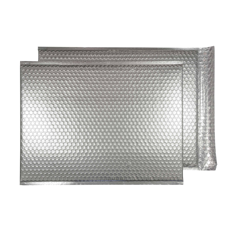 Brushed Chrome Matt 450mm x 324mm Bubble Envelopes (Box Of 50)