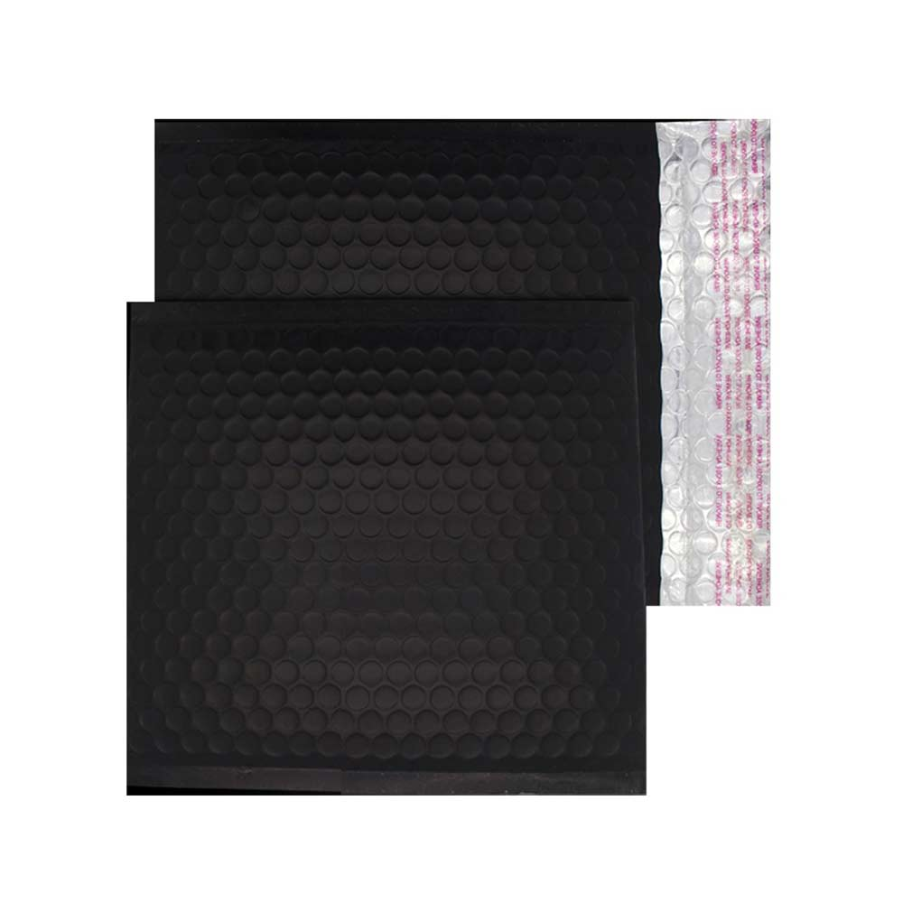 Charcoal Black Matt 165mm x 165mm Bubble Envelopes (Box Of 100)