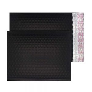 Charcoal Black Matt 250mm x 180mm Bubble Envelopes (Box Of 100)