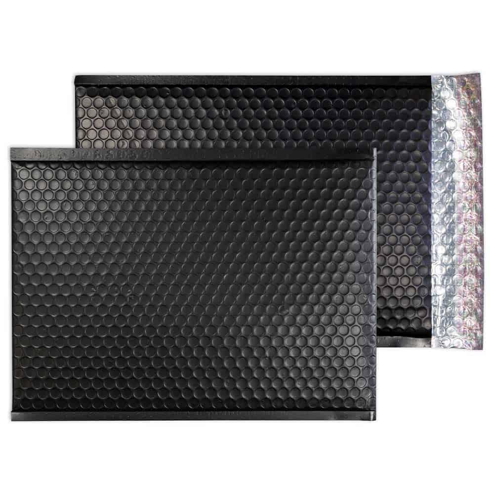 Charcoal Black Matt 450mm x 324mm Bubble Envelopes (Box Of 50)