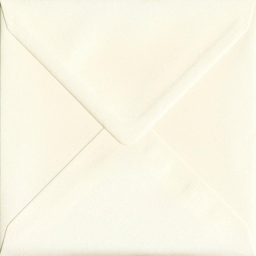 155mm x 155mm Magnolia Cream Gummed Square 100gsm Envelope