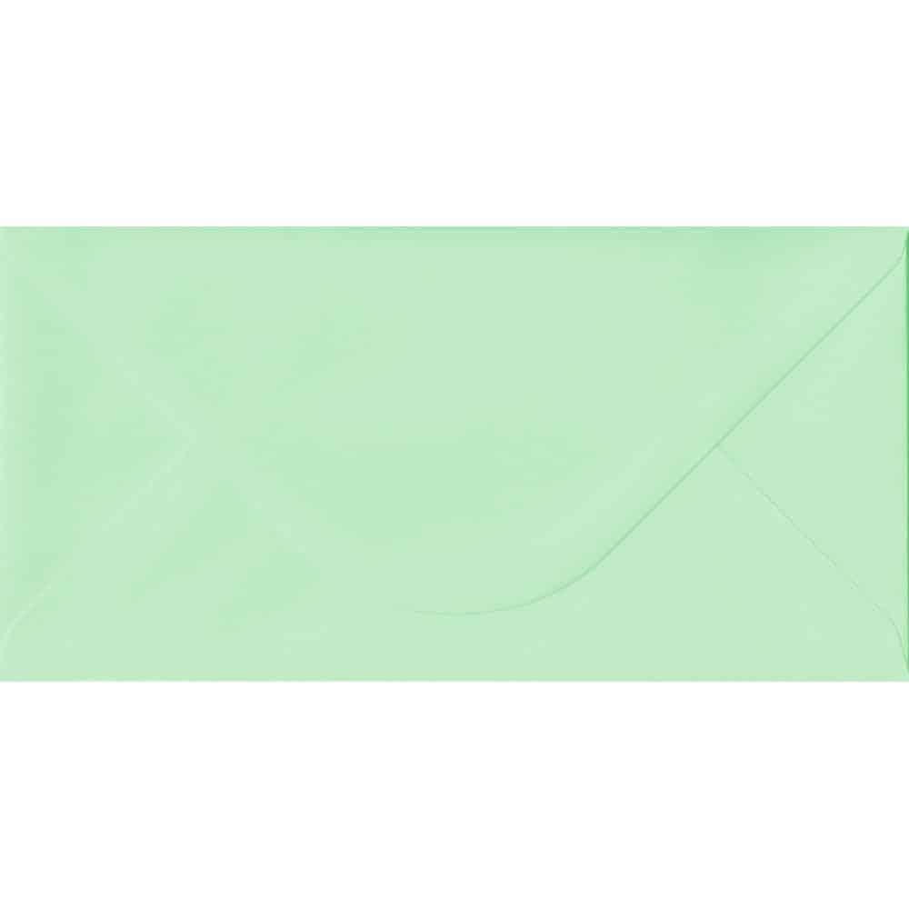 110mm x 220mm Mint Green Gummed DL 100gsm Envelope