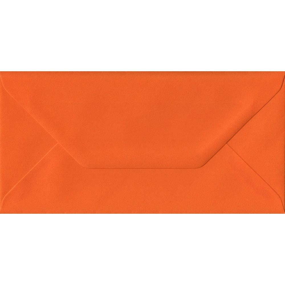 Orange DL 110mm x 220mm Gummed Colour Business Envelopes