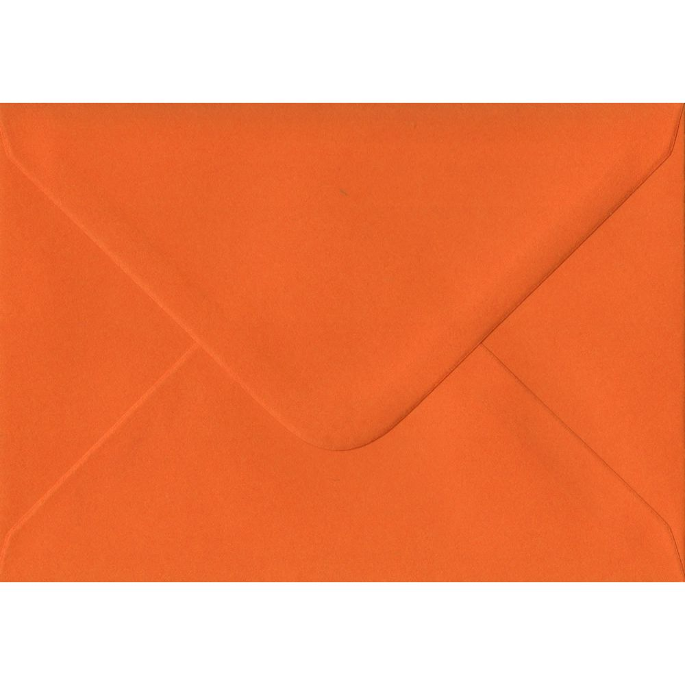 Orange C6 114mm x 162mm Gummed Coloured A6 Card Envelopes