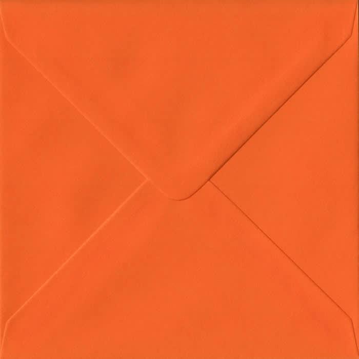 Orange S4 155mm x 155mm Gummed Square Colour Envelopes