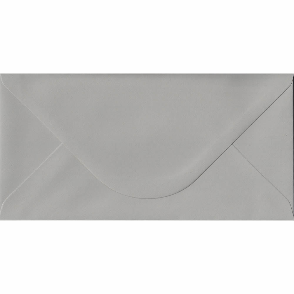 Owl Grey 110mm x 220mm 120gsm Gummed DL/Tri-Fold A4 Sized Envelope