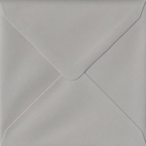 100 Square Grey Envelopes. Owl Grey. 155mm x 155mm. 120gsm paper. Extra Value MultiPack.