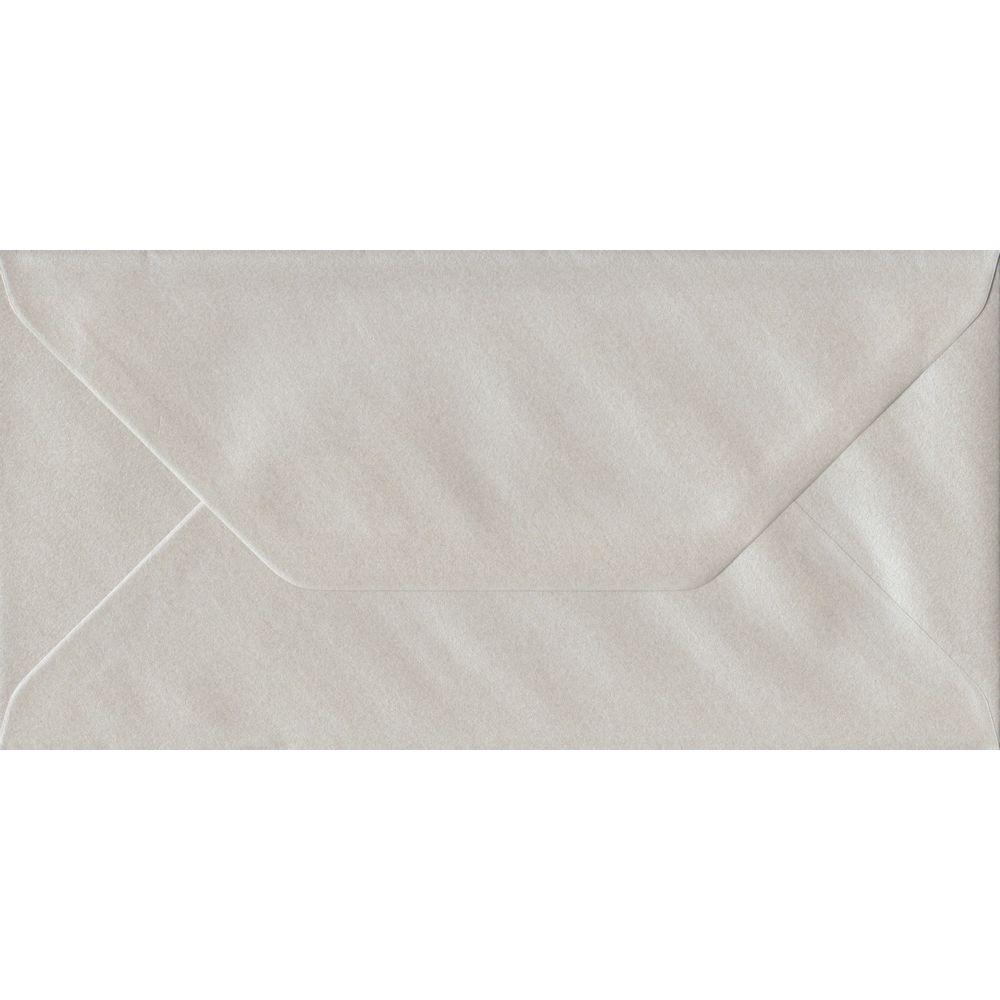 Pearlescent Oyster DL 110mm x 220mm Gummed Colour Business Envelopes