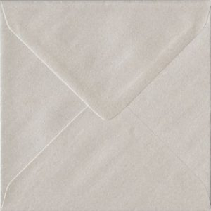 Pearlescent Oyster 155mm x 155mm Gummed Square Colour Envelopes