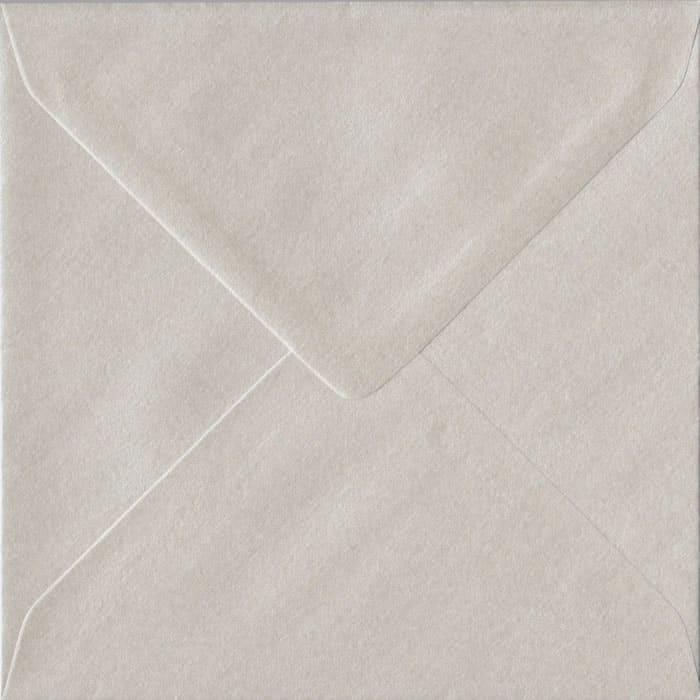 Pearlescent Oyster 155mm x 155mm Gummed Square Colour Envelopes