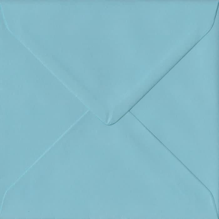 Blue S4 155mm x 155mm Gummed Square Colour Envelopes