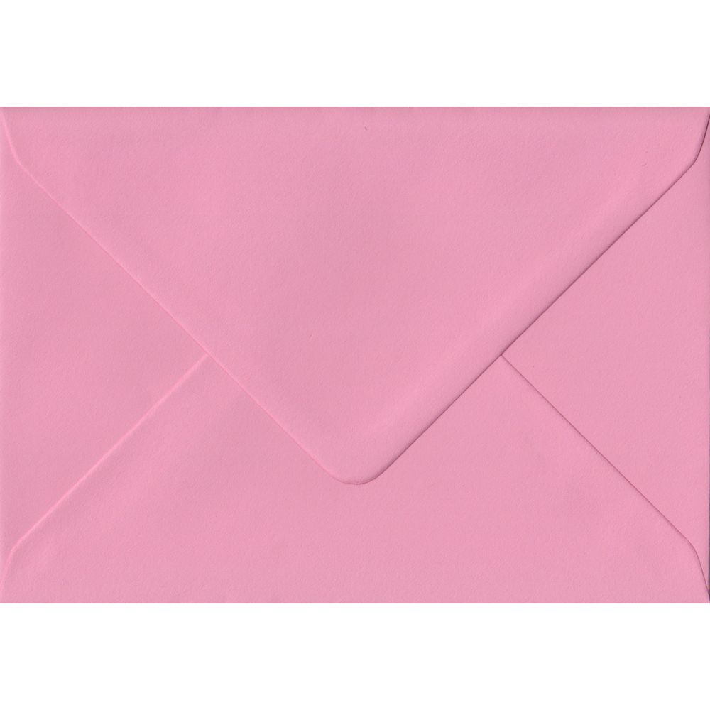 Pink C6 114mm x 162mm Gummed Coloured A6 Card Envelopes