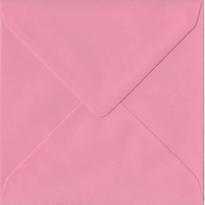 Pink S4 155mm x 155mm Gummed Square Colour Envelopes