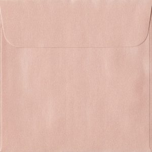 160mm x 160mm Peach Peel/Seal Square Paper 120gsm Envelope