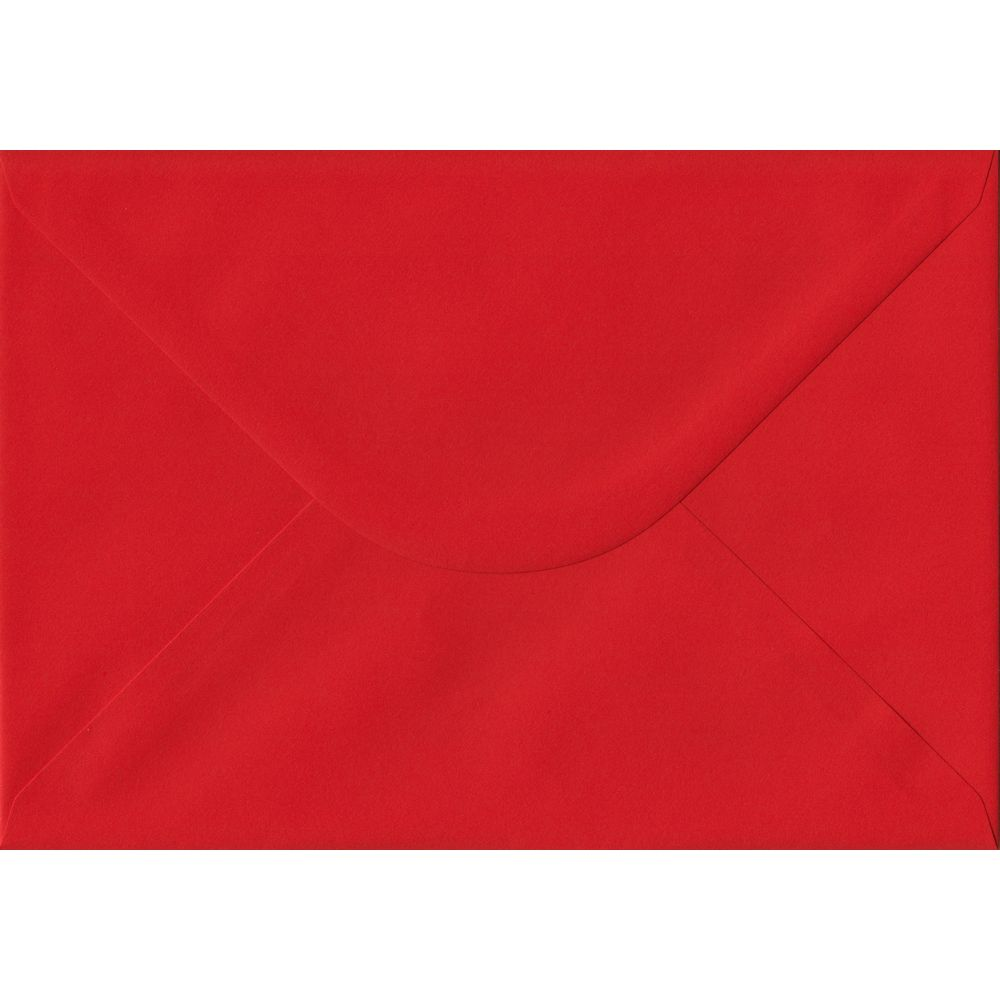 Poppy Red C5 162mm x 229mm Gummed A5 Size Colour Envelopes