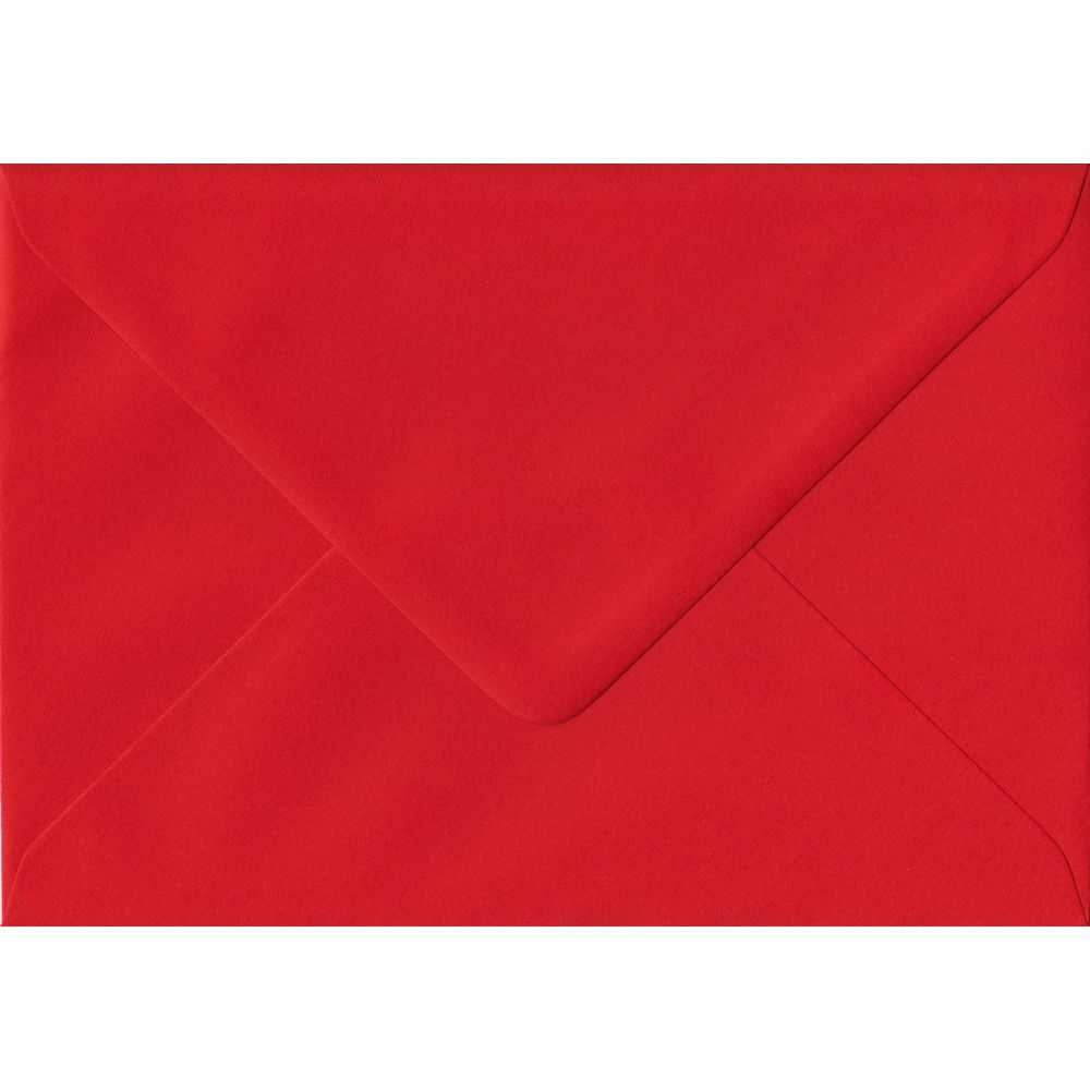 Poppy Red C6 114mm x 162mm Gummed Coloured A6 Card Envelopes