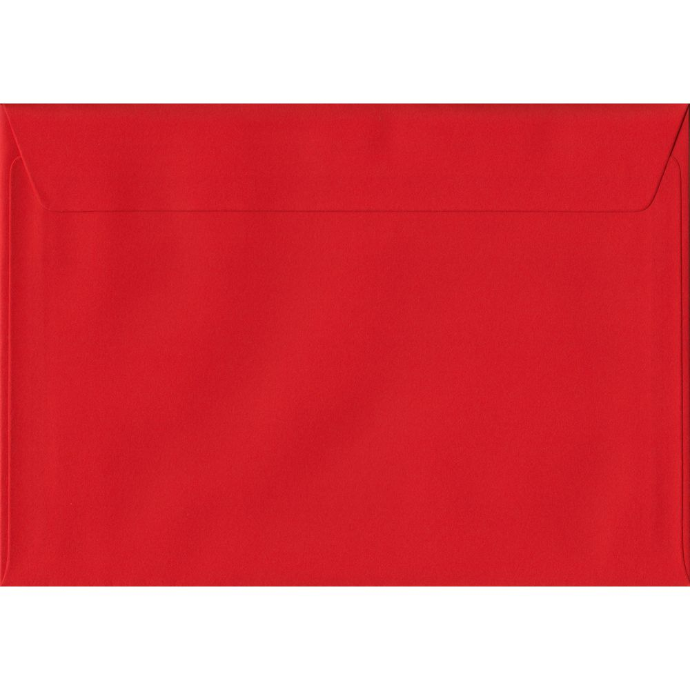 Poppy Red C5 162mm x 229mm Peel/Seal A5 Size Colour Envelopes