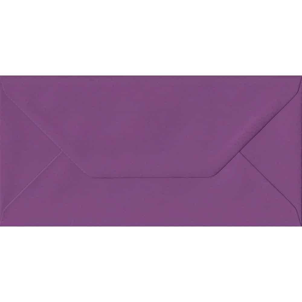 Purple DL 110mm x 220mm Gummed Colour Business Envelopes