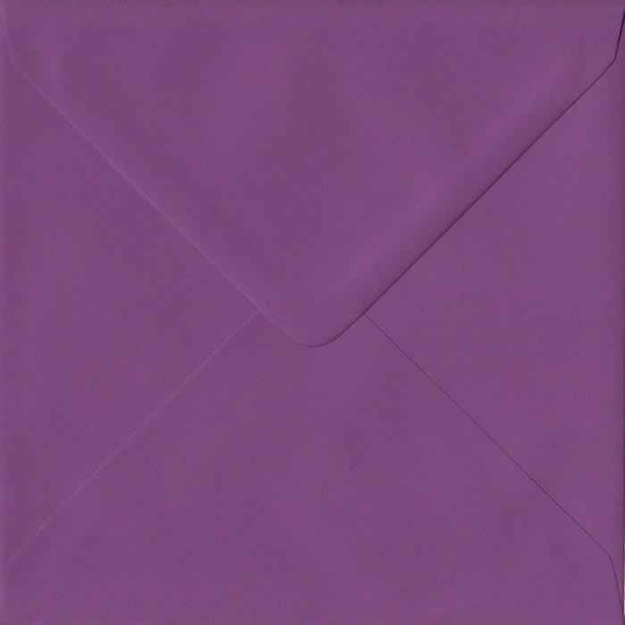 Purple S4 155mm x 155mm Gummed Square Colour Envelopes