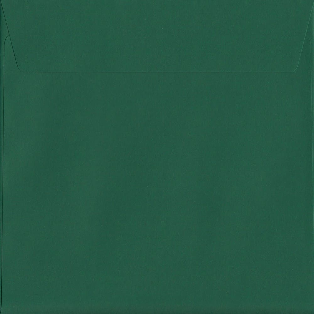Box Of 250 British Classic British Racing Green S2 220mm x 220mm Peel/Seal Coloured Envelopes