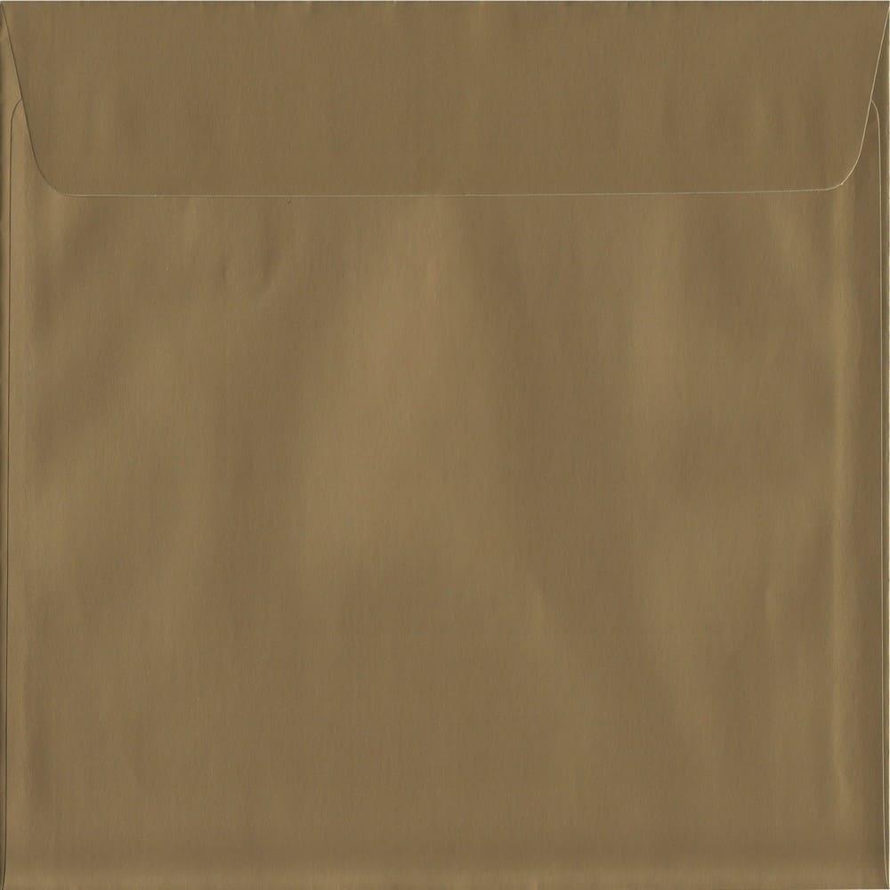 Metallic Shiny Gold S2 220mm x 220mm Peel/Seal S2 Colour Envelope