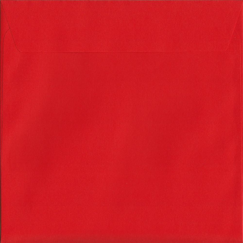 Vivid Pillar Box Red S2 220mm x 220mm Peel/Seal S2 Colour Envelope
