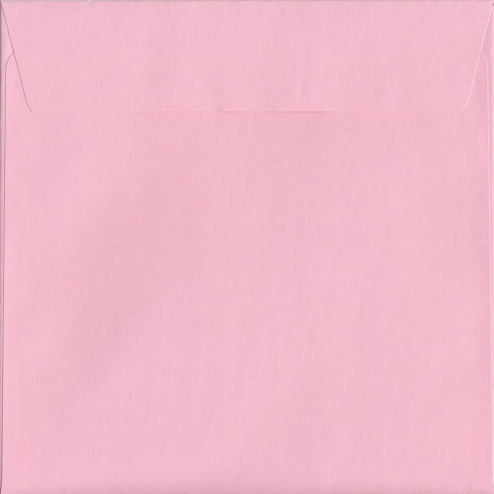 Box Of 500 Baby Pink 160mm x 160mm Peel/Seal Coloured Envelopes