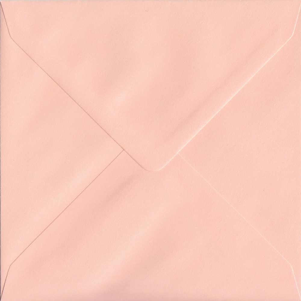 155mm x 155mm Salmon Pink Gummed Square 100gsm Envelope