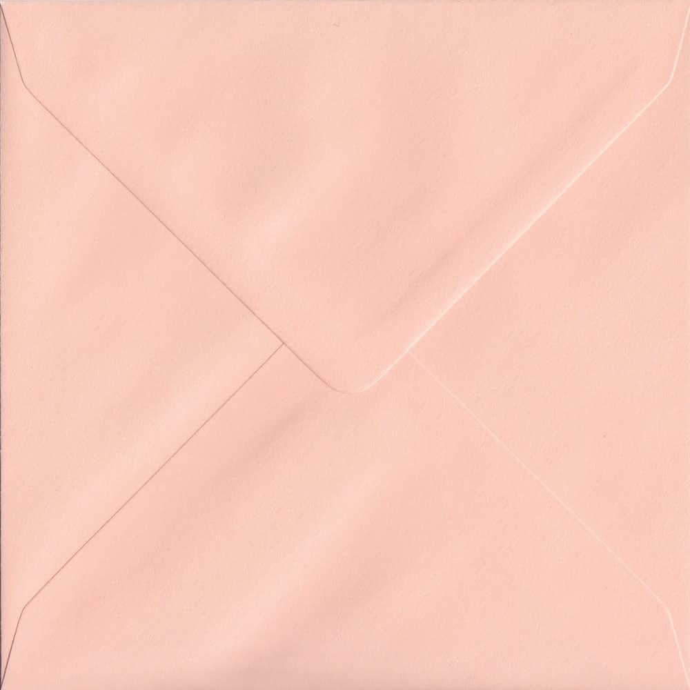 155mm x 155mm Salmon Pink Gummed Square 100gsm Envelope