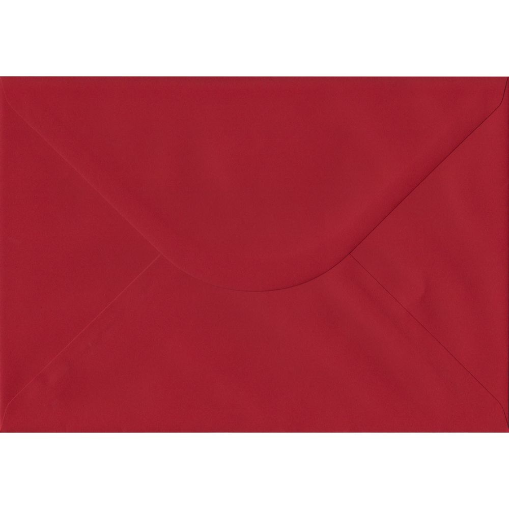 Scarlet Red C5 162mm x 229mm Gummed A5 Size Colour Envelopes