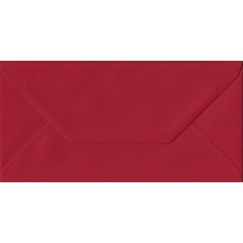 Scarlet Red DL 110mm x 220mm Gummed Colour Business Envelopes