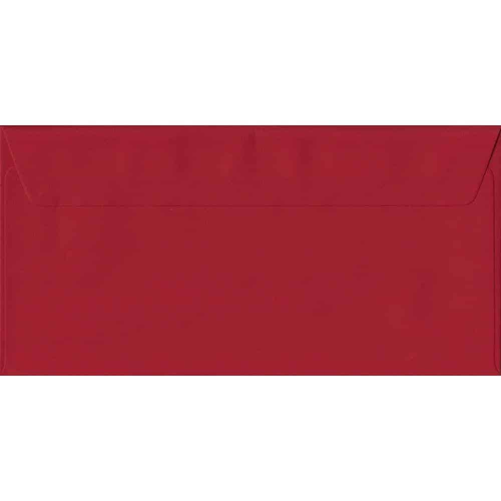 Scarlet Red DL 110mm x 220mm Peel/Seal Colour Business Envelopes