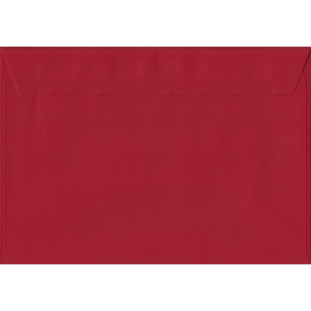 Scarlet Red C5 162mm x 229mm Peel/Seal A5 Size Colour Envelopes