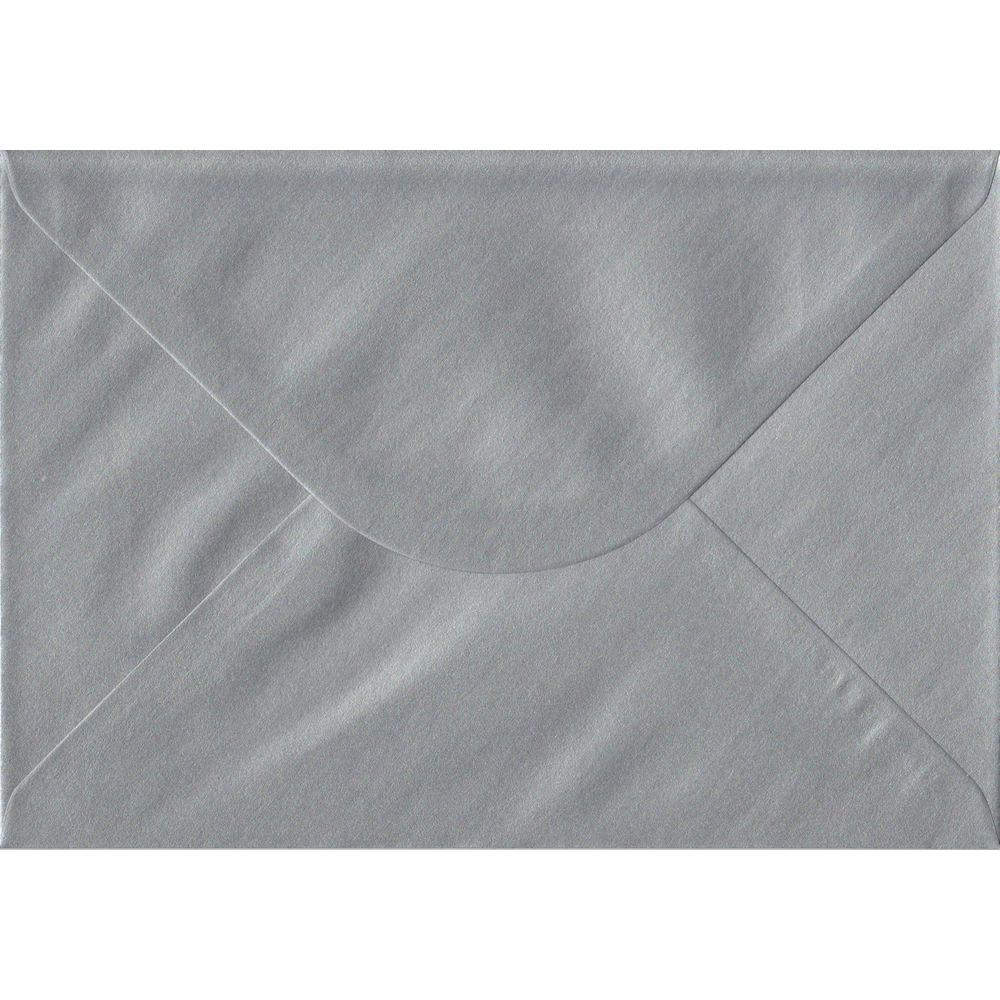 Metallic Silver C5 162mm x 229mm Gummed A5 Size Colour Envelopes