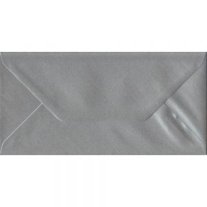Metallic Silver DL 110mm x 220mm Gummed Colour Business Envelopes