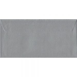 Metallic Silver DL 110mm x 220mm Peel/Seal Colour Business Envelopes