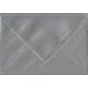 Metallic Silver C6 114mm x 162mm Gummed Coloured A6 Card Envelopes
