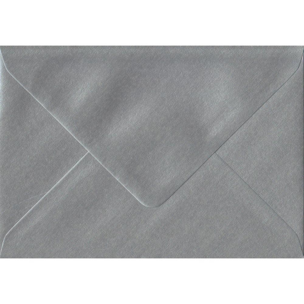 Metallic Silver C6 114mm x 162mm Gummed Coloured A6 Card Envelopes