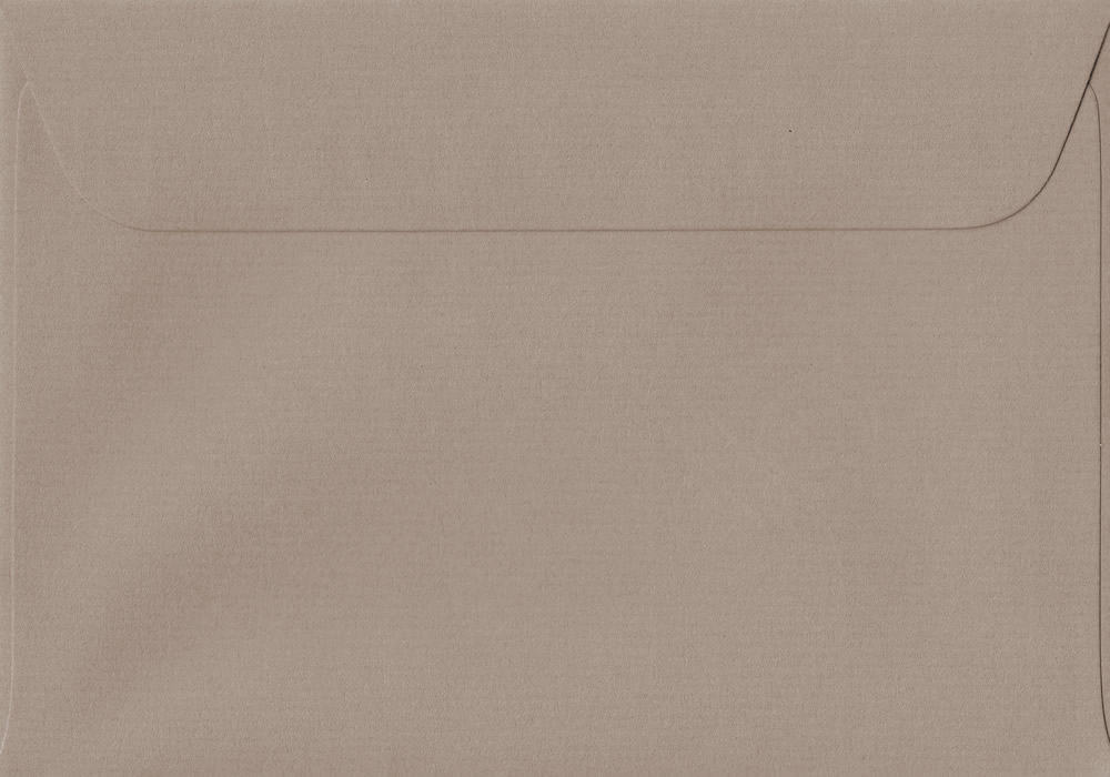 114mm x 162mm Taupe Peel/Seal C6/A6 Paper 100gsm Envelope