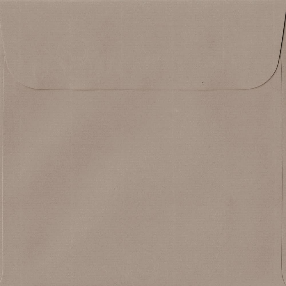 160mm x 160mm Taupe Peel/Seal Square Paper 100gsm Envelope