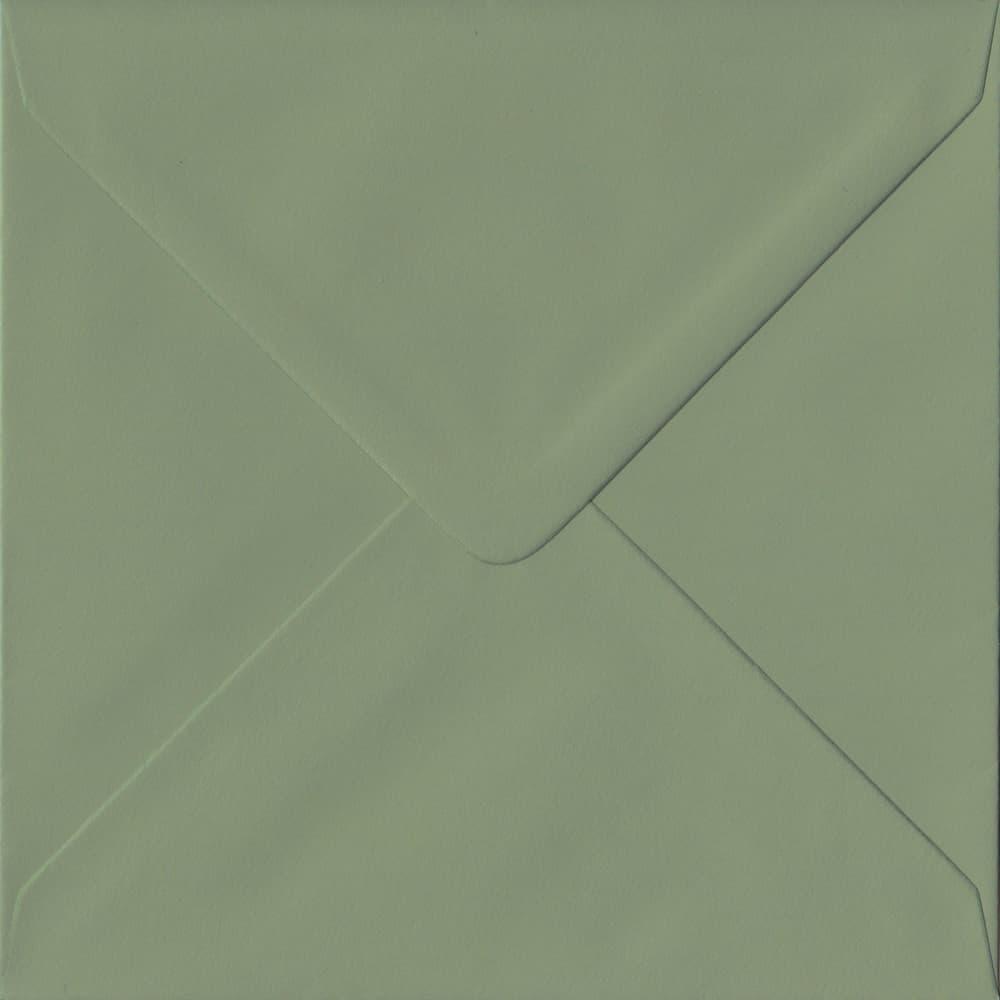 155mm x 155mm Vintage Green Green Gummed Square 135gsm Envelope
