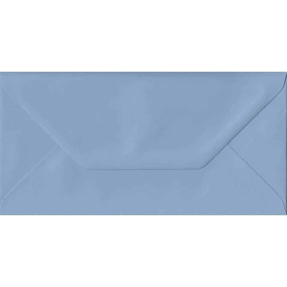 Wedgwood Blue DL 110mm x 220mm Gummed Colour Business Envelopes