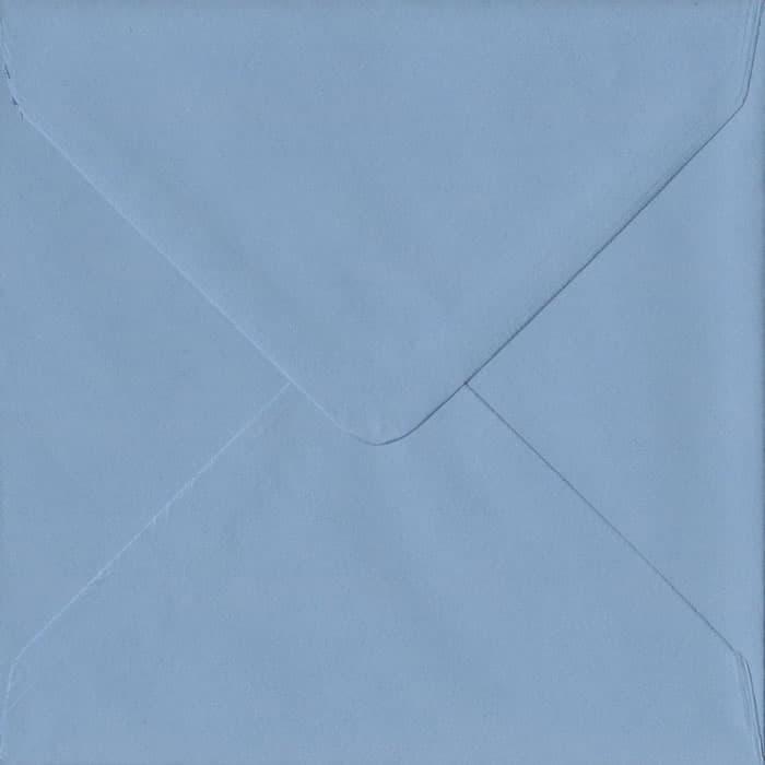 Wedgwood Blue S4 155mm x 155mm Gummed Square Colour Envelopes