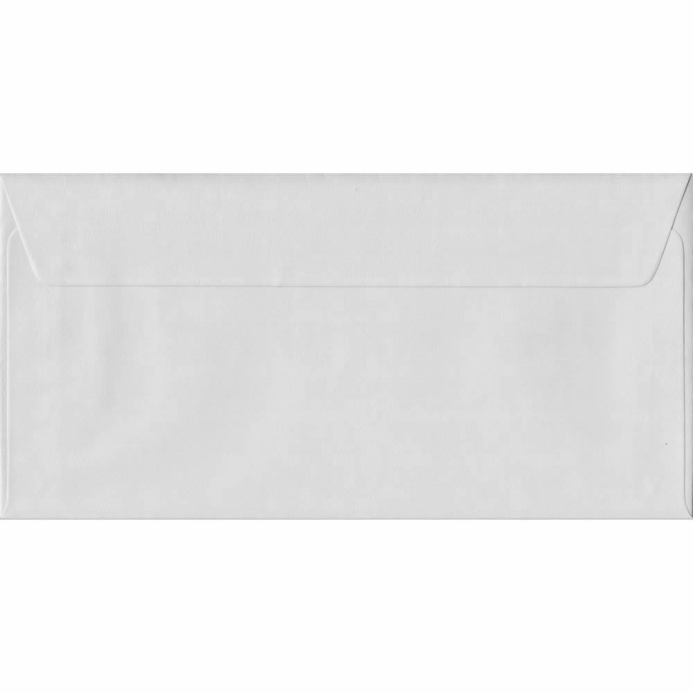 White DL 110mm x 220mm Peel/Seal Colour Business Envelopes