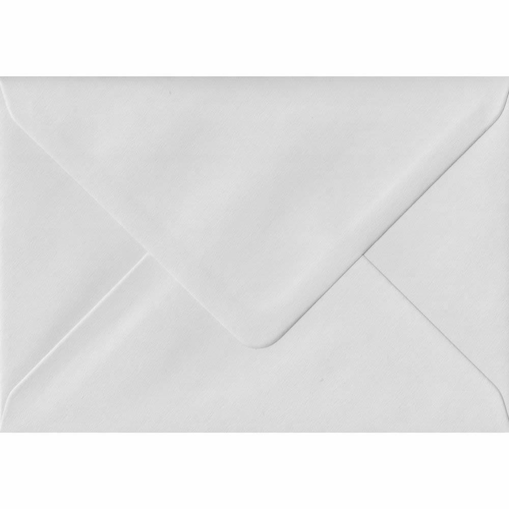 White C6 114mm x 162mm Gummed Coloured A6 Card Envelopes