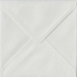 White Hammer S4 155mm x 155mm Gummed Square Colour Envelopes