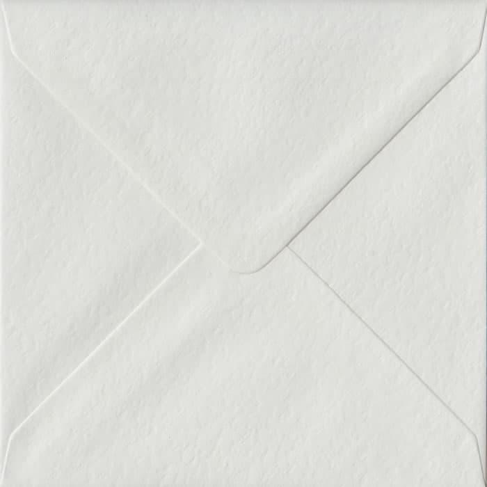 White Hammer S4 155mm x 155mm Gummed Square Colour Envelopes