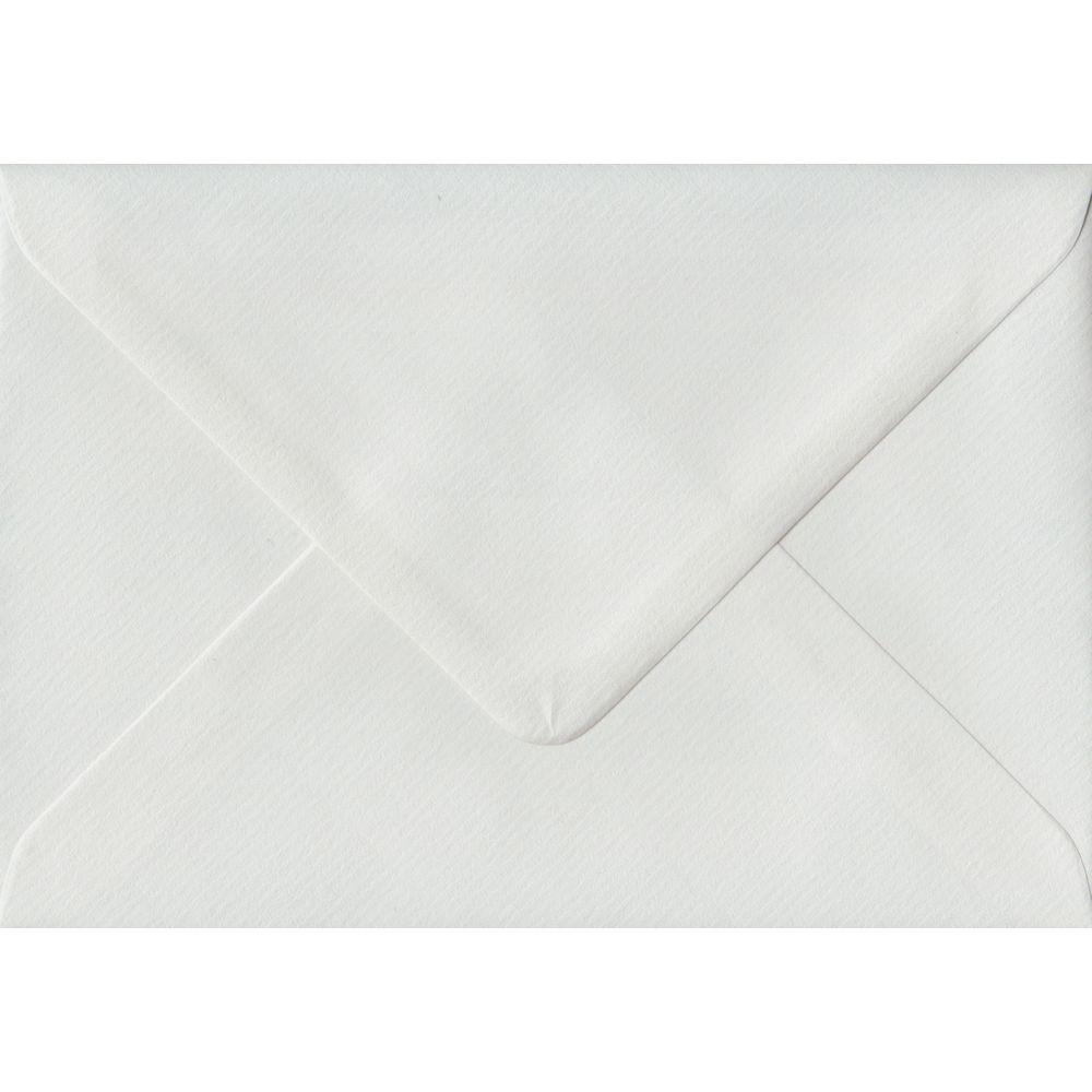 White Laid C6 114mm x 162mm Gummed Coloured A6 Card Envelopes